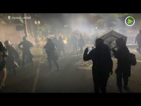 شاهد الشرطة الأميركية تعتدي على أحد الصحافيين مستخدمة رذاذ الفلفل