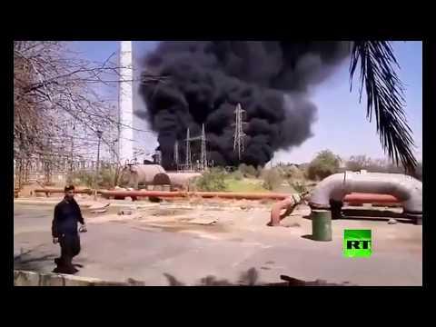 شاهد حريق في محطة مدحج زرغان للغاز جنوب غرب إيران